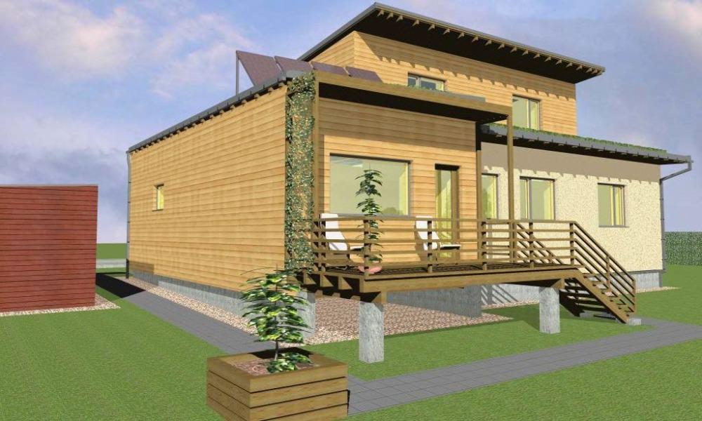 projekce dřevostavby